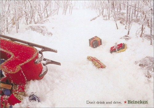 Heineken Christmas ad: Dont drink and drive!!