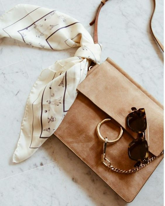 Camel suede over the shoulder bag, with a circle buckle.  Very minimalistic, luv pinterest || ☓ arleneeeg