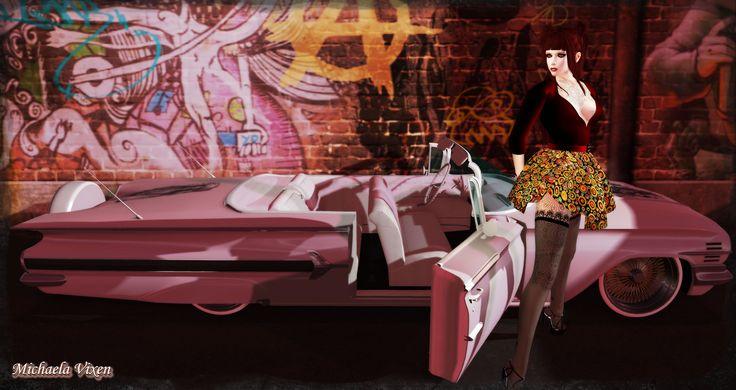 https://flic.kr/p/JWYBhh | Who needs a Pink Cadillac when you can have a Pink Impala? | Who needs a Pink Cadillac when You can have a Pink Impala?  Location: Vixen's Creative Studios Photographer & Model: Michaela Vixen (VampBait69) Set Design & Creation: Michaela Vixen (VampBait69)  Vixen's Log - More Info & Credits Here