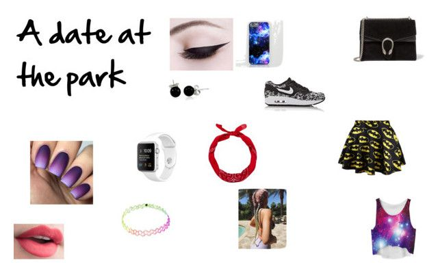 """""""A date at the park"""" by emmapkerr5 on Polyvore featuring NIKE, Gucci, New Look and Bling Jewelry"""