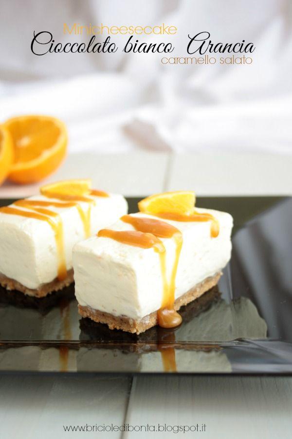 mini cheesecake arancia cioccolato bianco
