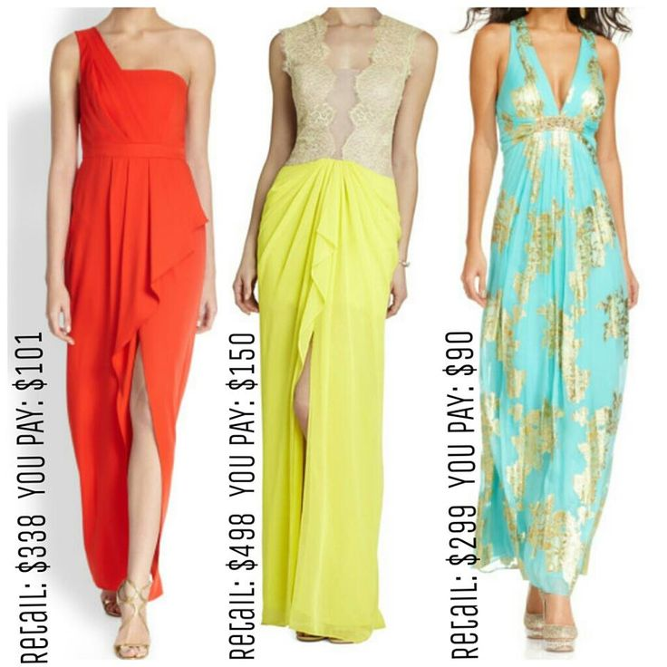 Vibrant, flowey prom/ special event dresses available at Opitz Outlet- SLP  3-20-15