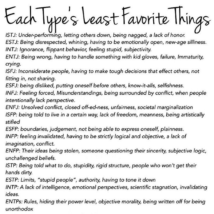 INFJ Least Favourite Things: Feeling forced, misunderstandings, being surrounded by conflict, when people intentionally lack perspective
