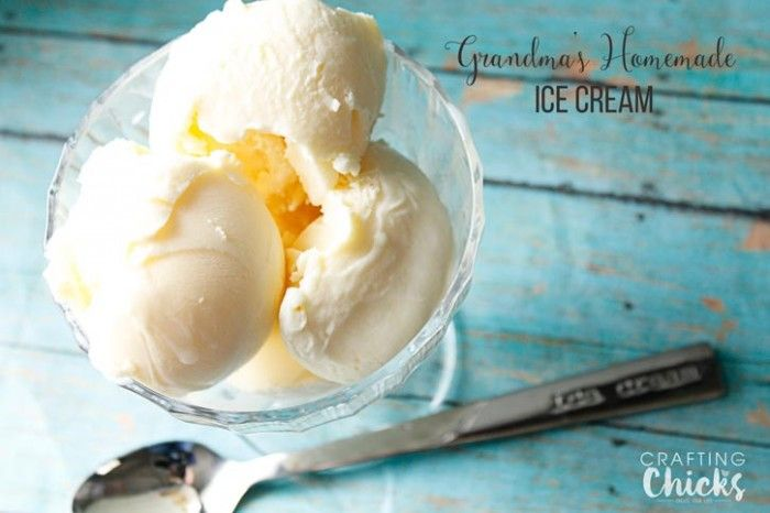 Grandma's Homemade Vanilla Ice Cream is so easy and makes for a special treat. A little break from the apples and carrots that we usually have. We all deserve a treat now and then right?