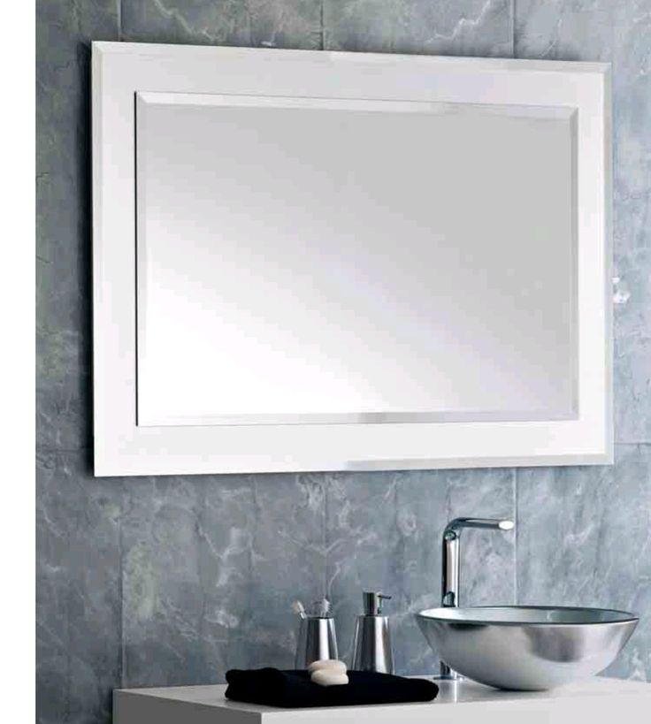 Frame Your Bathroom Mirror: Bathroom Mirror Frame