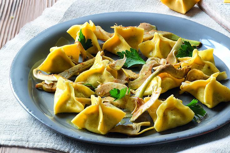La Cucina Italiana  Ravioli di ricotta e carciofi