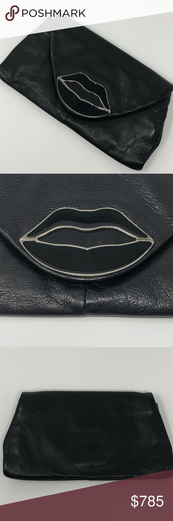 YSL Dali Lips Clutch 2003 BY Tom Ford BLACK RARE Immaculate condition carried 2x ▪️stored in my closet otherwise▪️no scratches to the lips▪️pebbled leather▪️2003 tom ford for Ysl dali collection▪️magnetic front snap closure▪️embossed yves saint laurent on back▪️corners show no wear▪️8in long x 4 1/4in high x 1in max depth (fits an iphone X cards + cards/cash and snaps)▪️no original dustcover or other items included will carefully pack and provide replacement dustcover Yves Saint Laurent Bags…