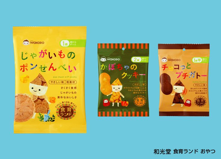 Wakodo snacks: your daily packaging smile : ) PD
