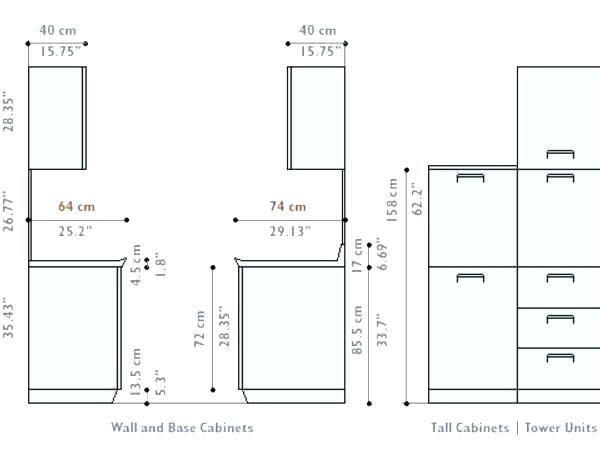 Kitchen Cabinet Dimensions, Kitchen Upper Cabinet Width
