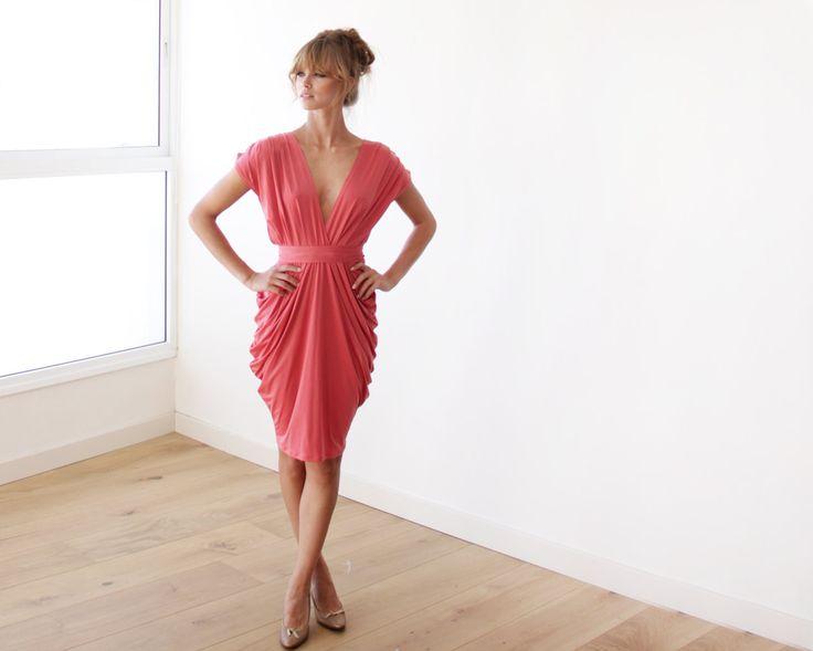 Coral Bridesmaid Maxi Dress   via Bridesmaid Maxi Dresses http://emmalinebride.com/bridesmaids/bridesmaid-maxi-dresses/