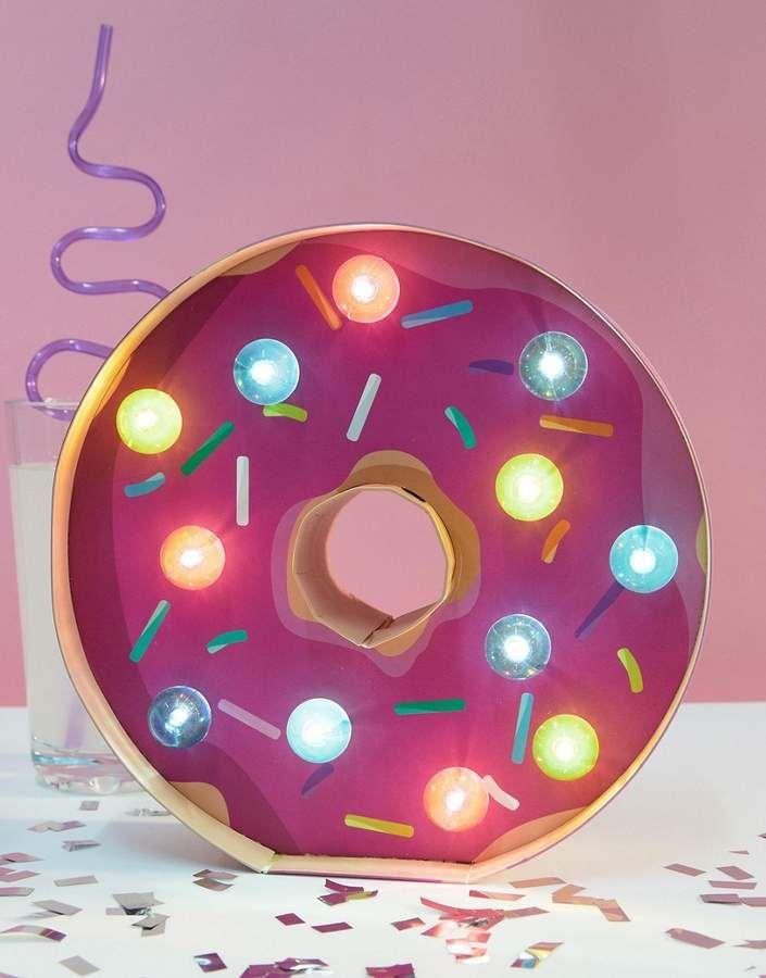 Donut Marque Light | Zimmerdekoration für Mädchen | Klassenzimmerdekor | lustige Party | Schlafzimmer…