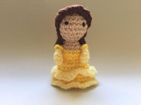 Belle Crochet Doll  Handmade Beauty and the beast crochet