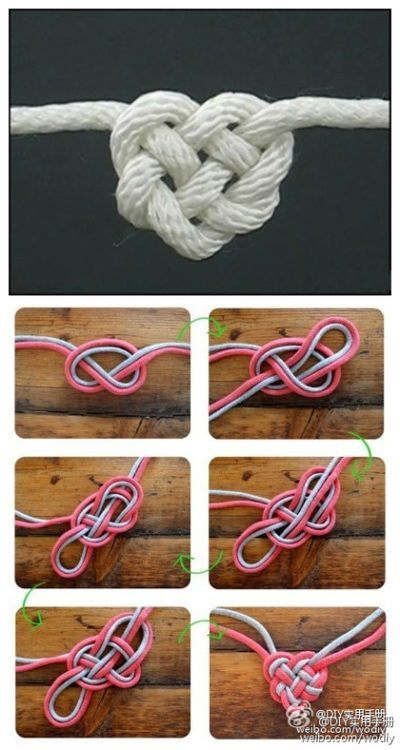 Love knot. Wonder how this would work as a tie in knot ;)