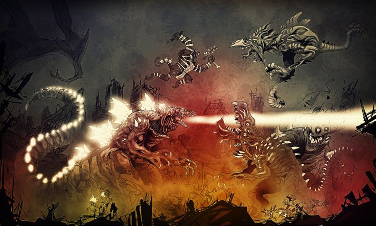 Everybody was Kaiju fighting by SimonSherry.deviantart.com on @DeviantArt