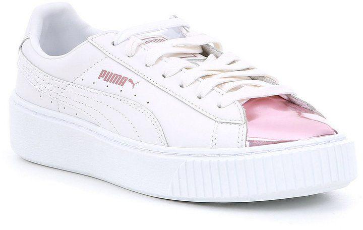 Puma Women s Basket Platform Metallic Sneakers