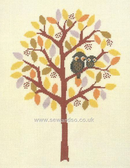 Buy Autumn Tree with Birds and Owls online at sewandso.co.uk