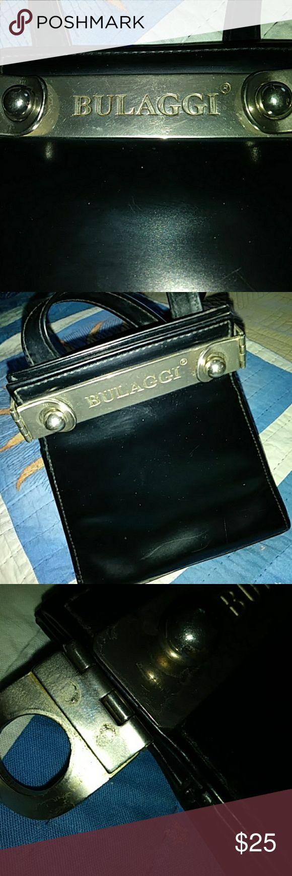 Bulaggi bag Unique black box bag in great condition. Silver hardware. bulaggi Bags Crossbody Bags