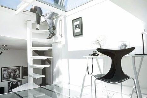 Scandinavian Skylights: Bright and Airy Loft Apartment