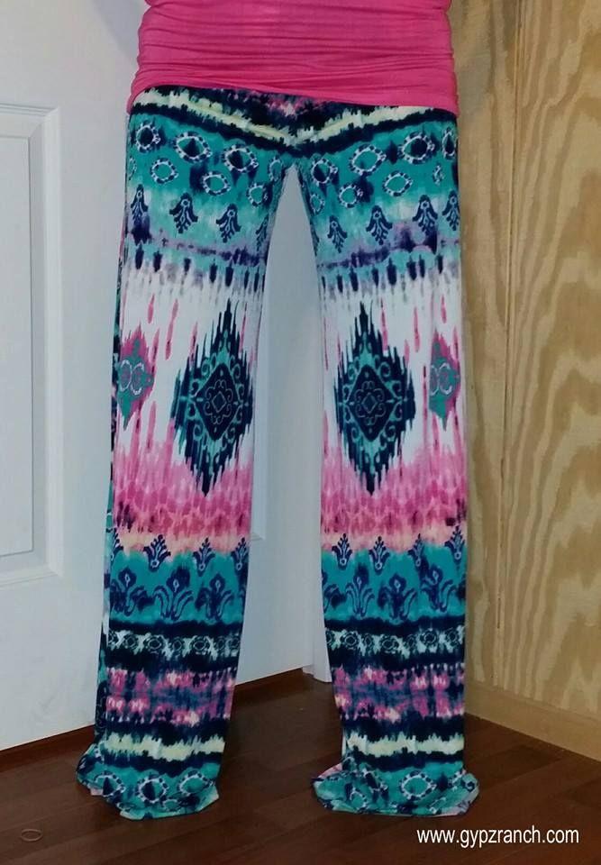 Aloha Palazzo Pants - Plus Size $40 www.gypzranch.com
