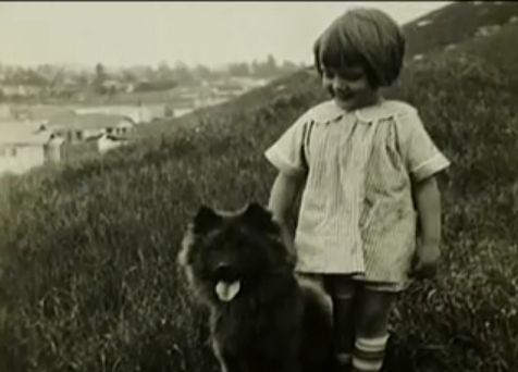 BETTY WHITE AS A CHILD  SHE LIKED DOGS THEN AND SHE FIGHTS FOR ANIMAL RIGHTS NOW.