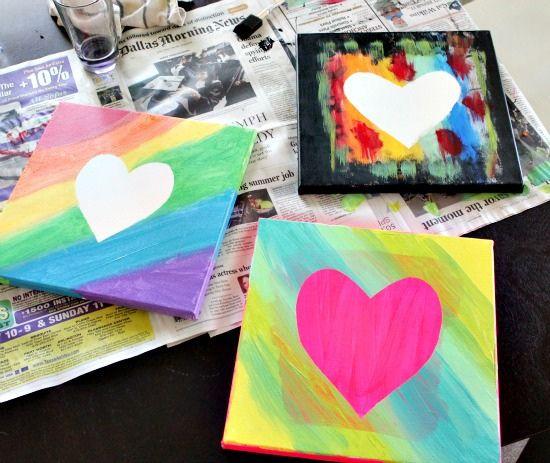 best 20+ kids canvas art ideas on pinterest   tissue paper art
