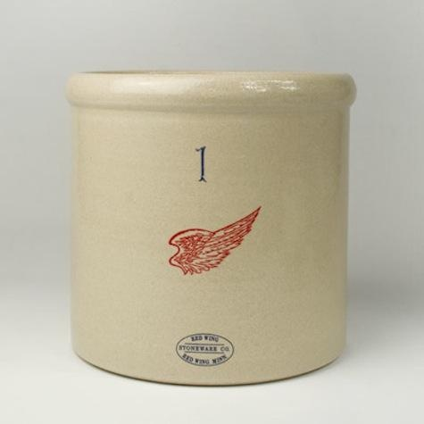 Made in Minnesota, the one-gallon Red Wing Stoneware Crock is $78 at Canoe