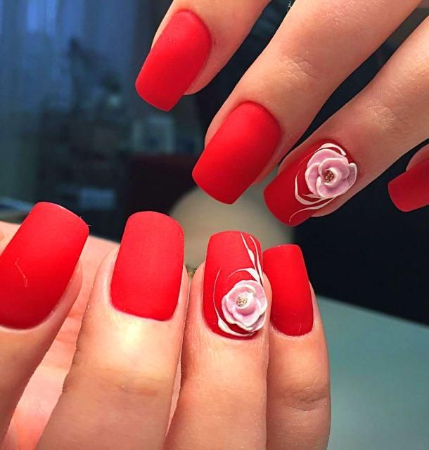 30 Super Cute Red Acrylic Nail Designs To Inspire You Red Nails Red Nail Designs Red Acrylic Nails