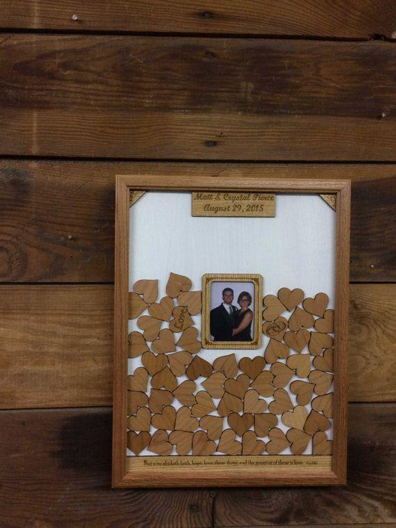 Unique Guest Book Alternative Wedding Personalized Drop