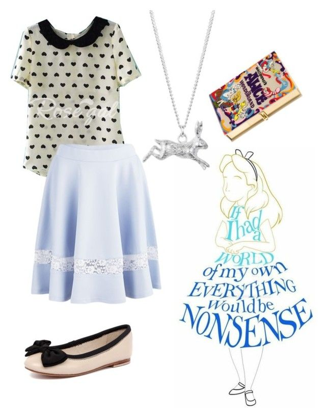 """Alice in Wonderland"" by rainbowfra on Polyvore featuring Lavish Alice, Olympia Le-Tan, Human Premium and Joy Everley"