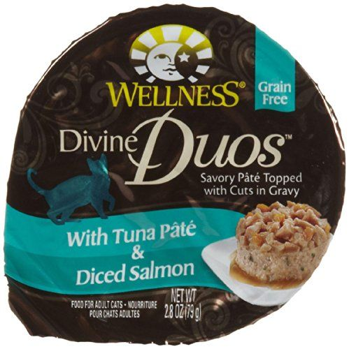 Wellness Divine Duos with Tuna Pate  Diced Salmon   24x28 oz ** See this great product. (This is an affiliate link) #CatFood