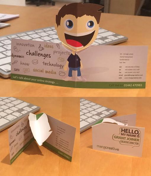 Quirky 3D Pop Up Business Card