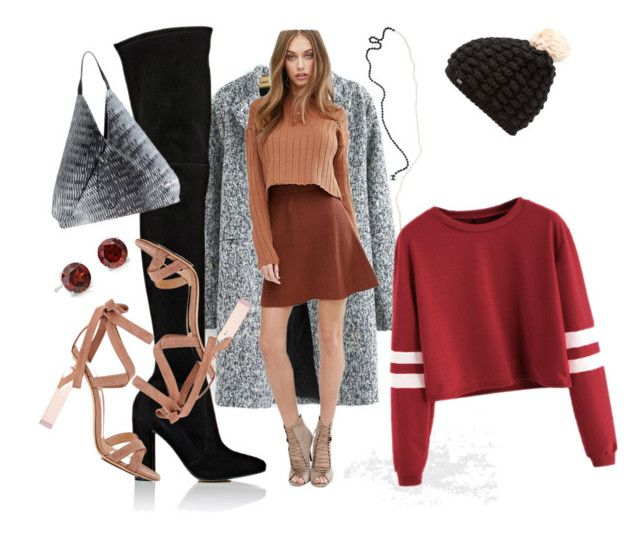 Windblown Burgundy by querriida on Polyvore featuring Missguided, Gianvito Rossi, Kenzo, Blue Nile, Karl Lagerfeld, Superdry and neutrals