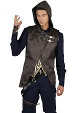 Dishonored 2 Corvo Attano Costume Outfit Uniform Cosplay Mens Fancy Suit Adult