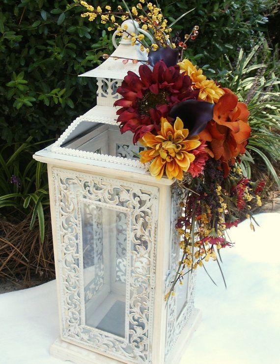 Wedding Card Box White Wine Burgundy Red by TheElegantFlower