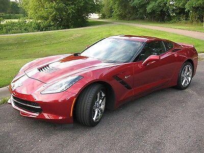2014 Corvette Stingray   Only 355 Miles   LT3   Crystal Red   7spd