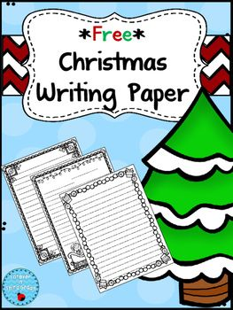 Three pieces of Christmas Themed Writing Paper for your writing projects. Enjoy!