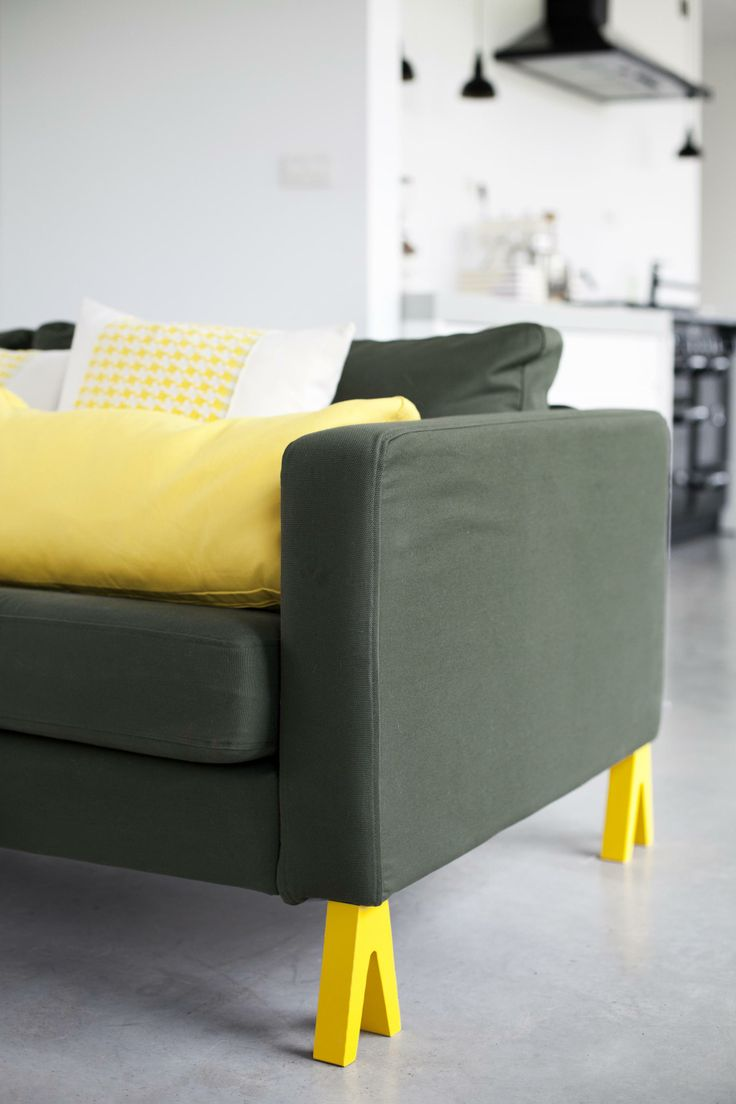 Nice pegs for hacking IKEA furniture - so cool From : prettypegs.com  Model HILLEVI YELLOW (photo: Evin Delisi)