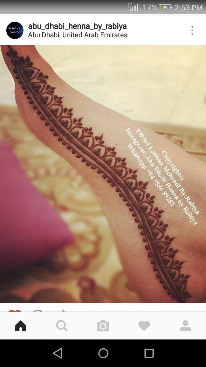 Feet henna minimalist ❤
