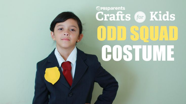 Last minute costume for you kiddo? Great. Just do this ODD SQUAD costume by using a suit and cutting felt out for a badge.