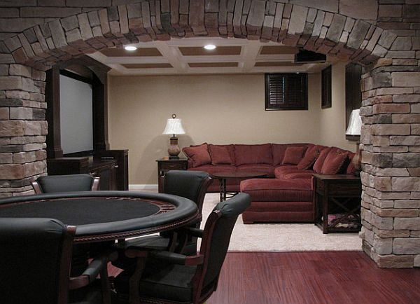 perfect combination poker and comfy couch for movies perfect man cave decorating ideas to pull off a unique design basement