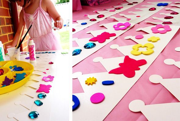 princess party activities - decorate your own crown and wand!