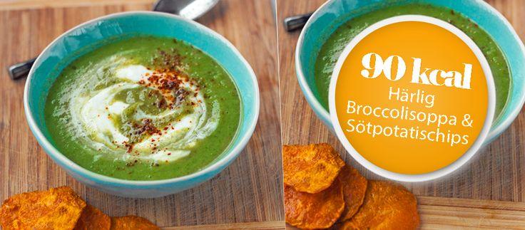 Årets första äkta fastevecka har dragit igång och det ska firas med ett nytt härlig 5 2 dieten soppa på broccoli med det lyxiga tillbehöret sötpotatischips!