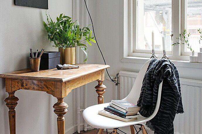 Bilder, Hall, Skrivbord, Modernt, Stol, Vit, Klassiskt - Hemnet Inspiration