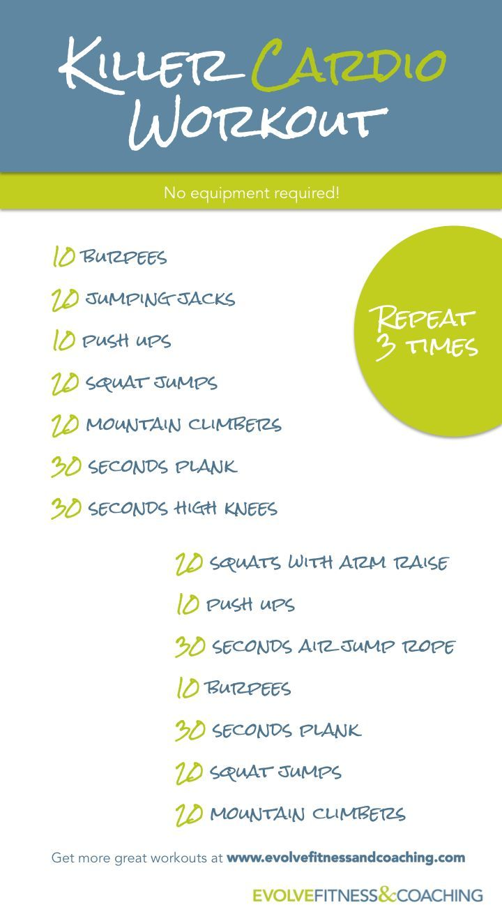 Cardio Workout @caitlin_alexis let's do this cardio circuit this week!
