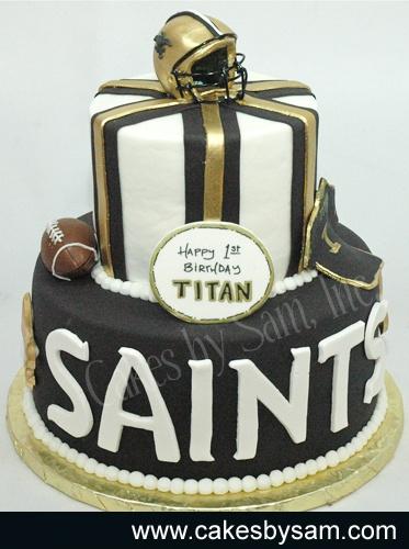 SaintsSaint Cake, First Birthday Cake, Grooms Cake, Orleans Saint, Awesome Cakes, 1St Birthday, First Birthdays, Football Cake, Birthday Cakes