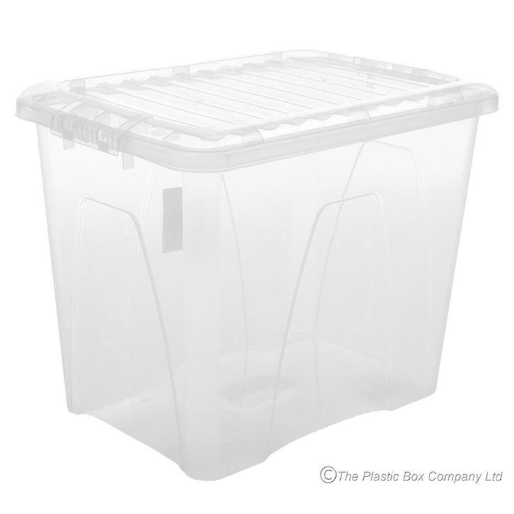 75lt Nice Plastic Storage BoxandLid (Pack of 3)
