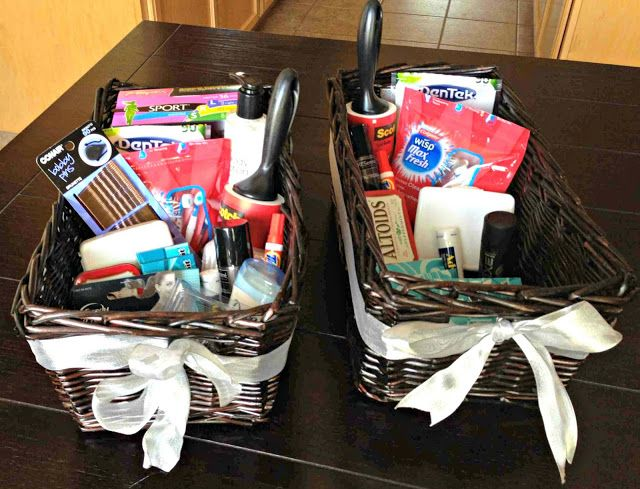 Wedding Bathroom Hospitality Baskets