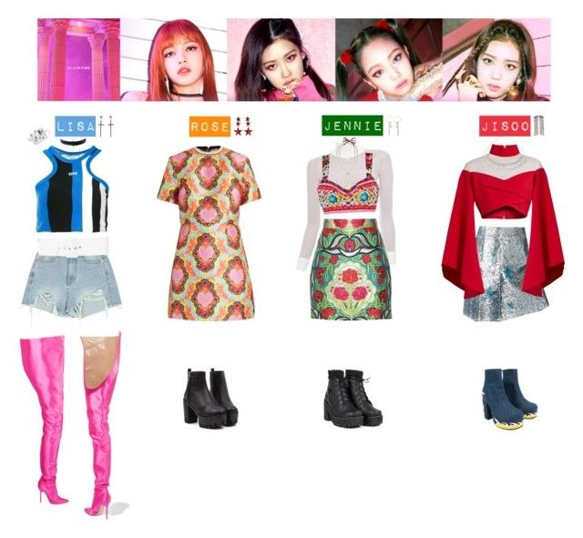 Blackpink Outfit Ideas: BLACK PINK - AS IF ITS YOUR LAST💛💚💜💙♡