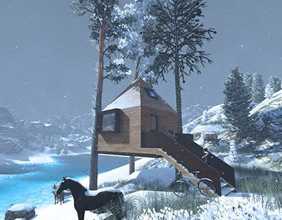 """Check out new work on my @Behance portfolio: """"Tree House"""" http://on.be.net/1O3G1rD"""