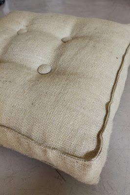 Almohadones cuadrados arpillera: Deco Marce Tienda